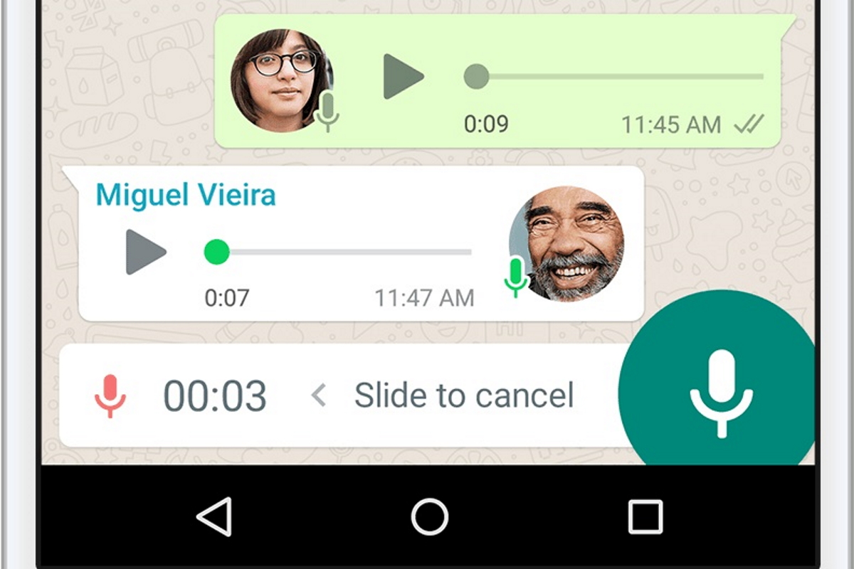 Sprachnachrichten bei WhatsApp
