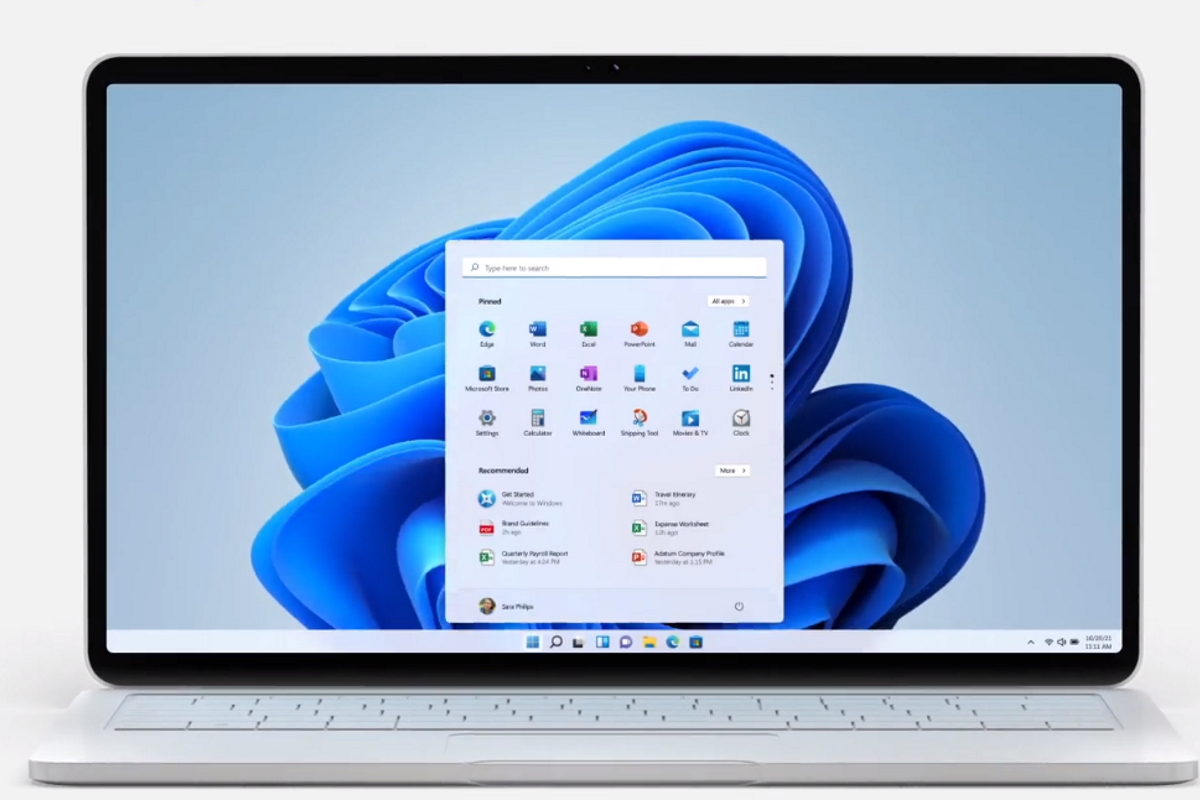 Laptop mit Windows 11